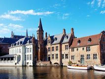 Canal in Brugge Stock Images