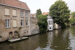 Canal in Brugge, Belgium Royalty Free Stock Photography