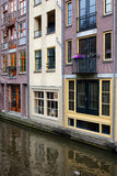 Canal Buildings in Amsterdam Stock Images