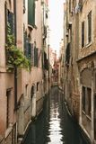 Canal with buildings in Venice. Royalty Free Stock Images