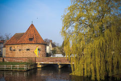 Canal in Buxtehude. (lower Saxony, Germany Stock Photo