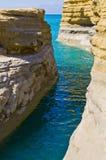 Canal célèbre D'amour Sidari - à Corfou, Grèce Photos libres de droits