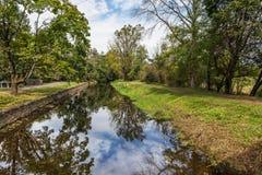 Canal cênico de Delaware da vista fotografia de stock royalty free