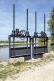 Canal castilla locks in Fromista Royalty Free Stock Photo