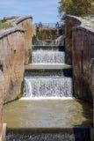 Canal castilla locks in Fromista Stock Photography