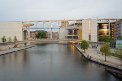Canal in center of Berlin Stock Photography