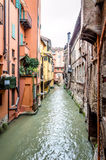 Canal in the center of Bologna Royalty Free Stock Images