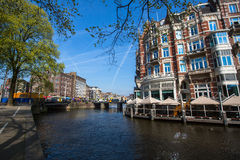 Canal in centre of Amsterdam, Netherlands. Travel. Stock Image