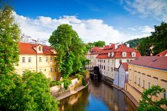 Canal In Centre Of Prague Royalty Free Stock Photos