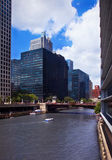 Canal in Chicago Stock Image