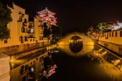 Canal chino de la noche foto de archivo libre de regalías