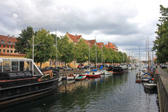Canal in Christianshavn Royalty Free Stock Photography