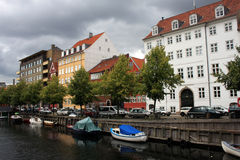Canal in Christianshavn Royalty Free Stock Images
