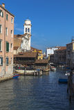 Canal and the Church of San Trovaso in Dorsaduro Royalty Free Stock Photos