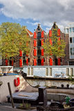 Canal in the City of Amsterdam Royalty Free Stock Images