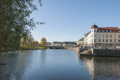 Canal in City of Gothenburg stock photography