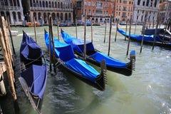 Canal cityscape in Venice. Gondolas in he Venice, Italy Royalty Free Stock Photo
