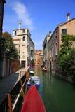 Boats in the Venice, Italy. Canal cityscape in Venice, Italy Stock Photos