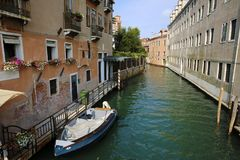 Canal cityscape in Venice, Italy. Canal cityscape in Venice, Italy Royalty Free Stock Photos