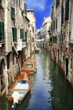Canal cityscape in Venice, Italy. Canal cityscape in Venice, Italy Royalty Free Stock Images