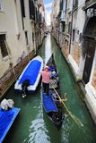 Canal cityscape in Venice, Italy. Gondola in the Venice, Italy Stock Images