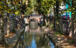 Canal clásico de Utrecht Imagen de archivo libre de regalías