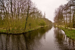 Canal Clingendael. Canal at Clingendael, which was an anti-tank canal in the WW2 Royalty Free Stock Photos