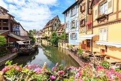 Canal in Colmar, Alsace Stock Photos