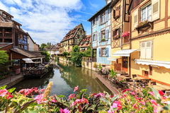 Canal in Colmar, Alsace Stock Images