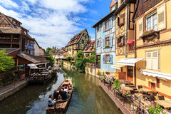 Canal in Colmar, Alsace Stock Image