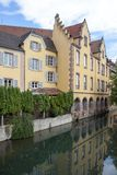 Canal in Colmar in Petit Venice. Strasbourg region, France royalty free stock image