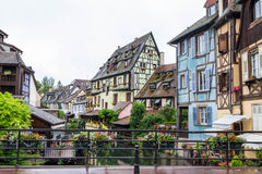 Canal and colorful houses in Petite Venice, Colmar, France. Stock Images