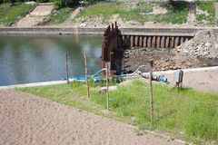 Canal Construction Site Royalty Free Stock Image