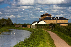 Canal converted pumping station Stock Photography