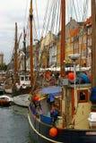 Canal Copenhaga lateral imagem de stock royalty free