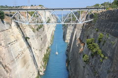 Canal of corinth Royalty Free Stock Photos