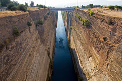 Canal of Corinth, Greece Stock Photos