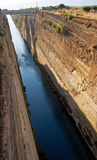 Canal of Corinth, Greece Stock Images