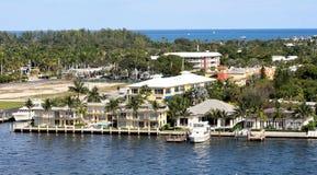 Canal costero inter en Fort Lauderdale, la Florida Imagen de archivo