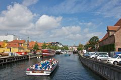 Canal Cruise along Nyhavn, Copenhagen Royalty Free Stock Photography