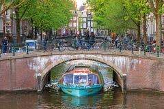 Free Canal Cruise Boat Bridge Stock Image - 62047421