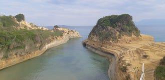 Canal d amour at Corfu island, Greece. Corfu, Canal d amour at Corfu island, Greece, the best beaches in corfu, gardenos beach corfu, marathias beach, paradise stock photo