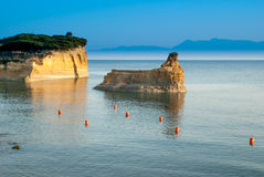 Canal d'amour Sidari, Corfu Island in Greece. Channel of love Royalty Free Stock Image
