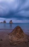 Canal D`amour the channel of love in Corfu Greece. Stock Image