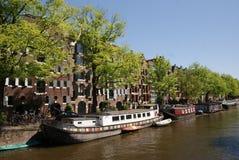 Canal d'Amsterdam Photographie stock libre de droits