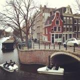 Canal d'Amsterdam Images libres de droits