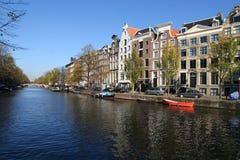 Canal d'Amsterdam Photos libres de droits