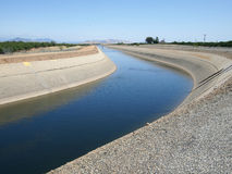 Canal d'irrigation Images stock