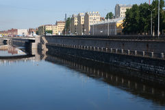 Canal d'Obvodnoy à St Petersburg Images stock