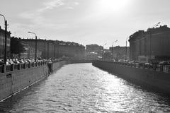 Canal d'Obvodny dans StPetersburg image stock
